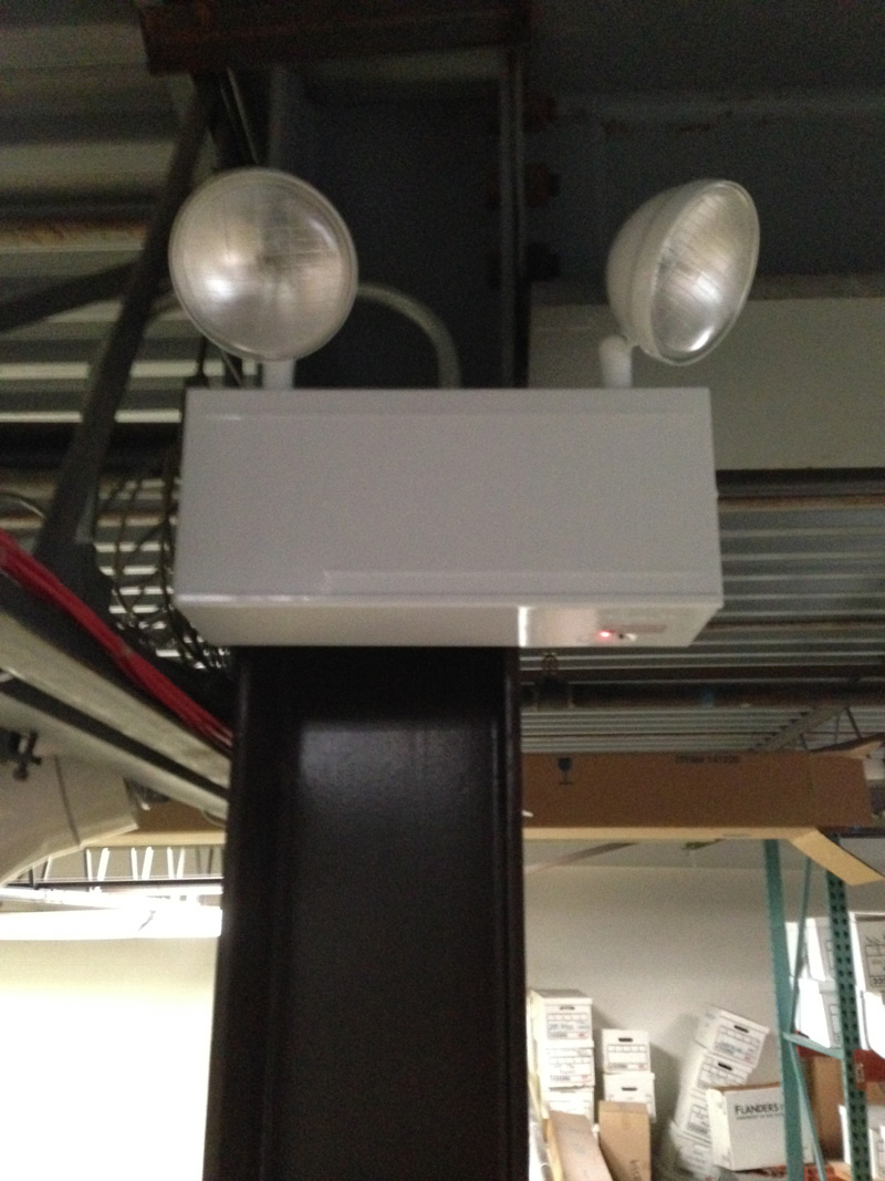 Chicago approved emergency light at Sterling Service Group Inc