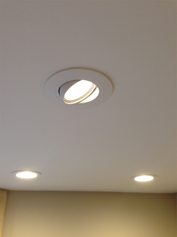 New LED Halo brand retrofit trim installed in an Arlington Heights home.