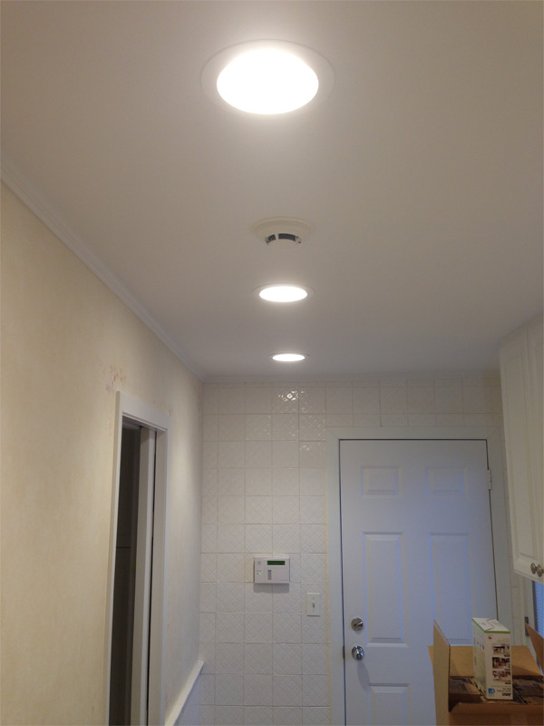 New LED recessed retrofit trims installed in South Barrington