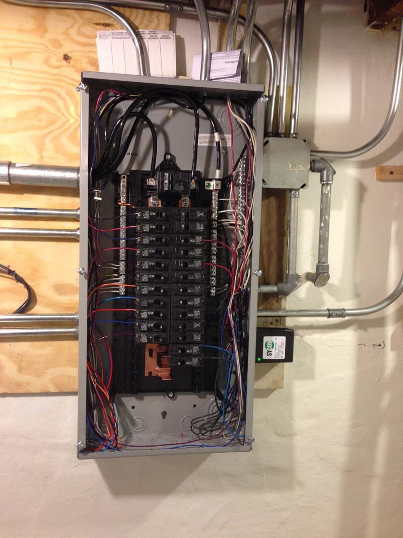 Panel change with surge protection
